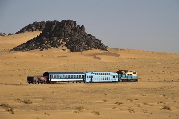 Parcours du train du Désert dans les dunes