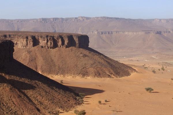 Plateau et sable Mauritanie