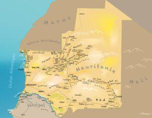 Carte touristique Mauritanie Point Afrique