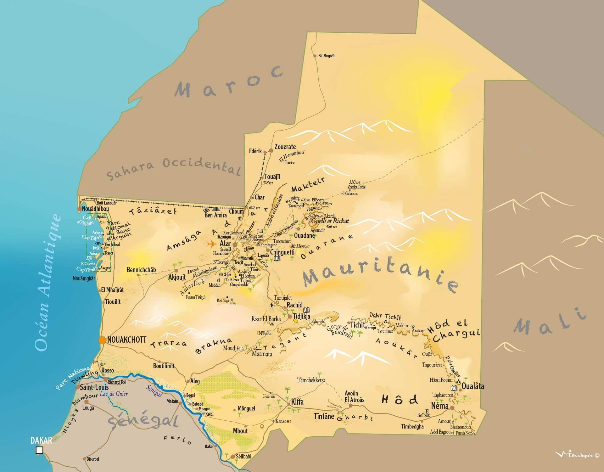 Banc Darguin Et Diawling Point Afrique Voyages