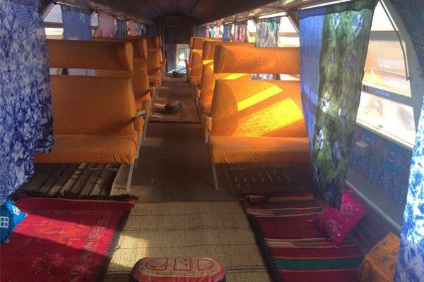 Intérieur Train du Désert en Mauritanie