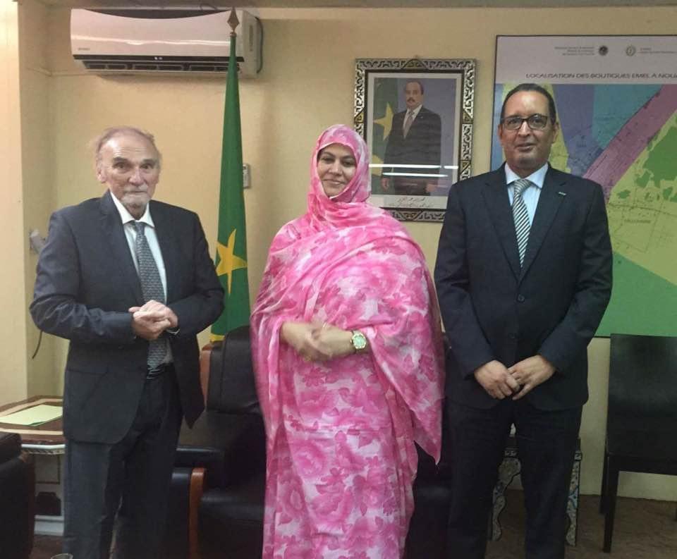 Maurice Freund et la Ministre du tourisme en Mauritanie