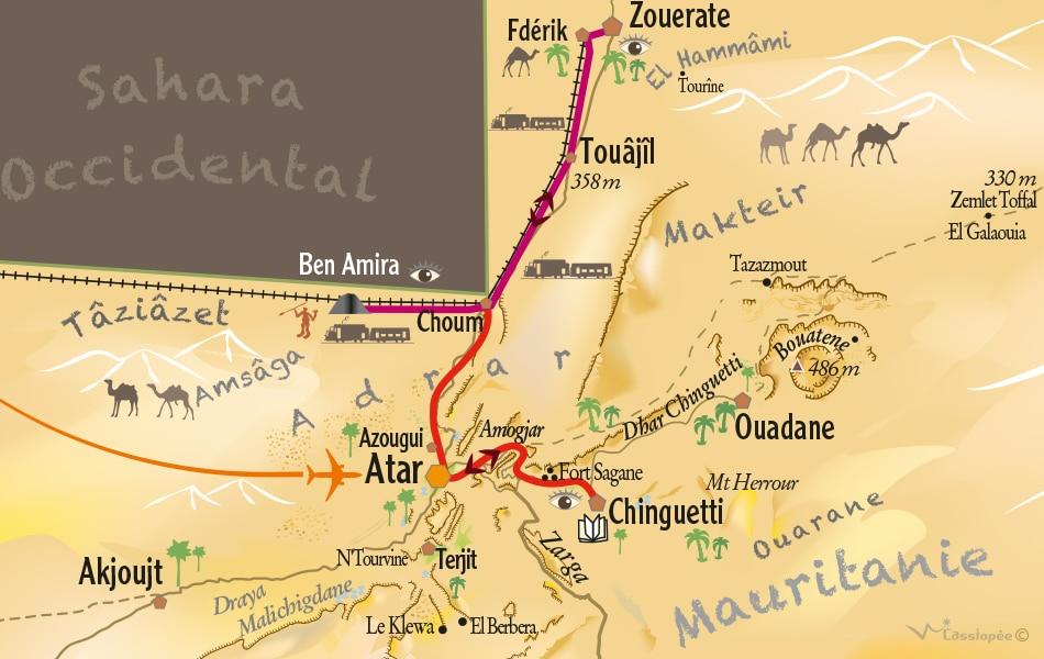 Carte circuit Train du Désert - Point Afrique