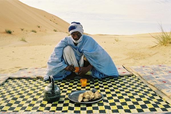 Petit-déjeuner dans les dunes