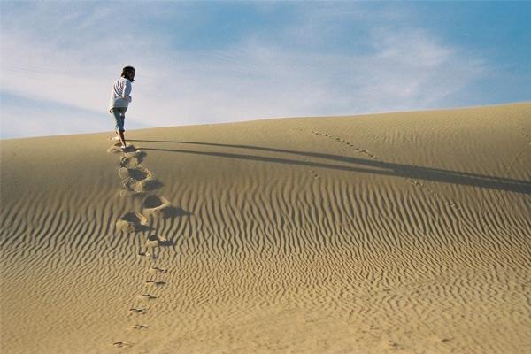 Rando dans le sable