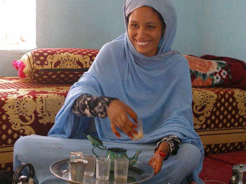 Thé à la menthe en mauritanie