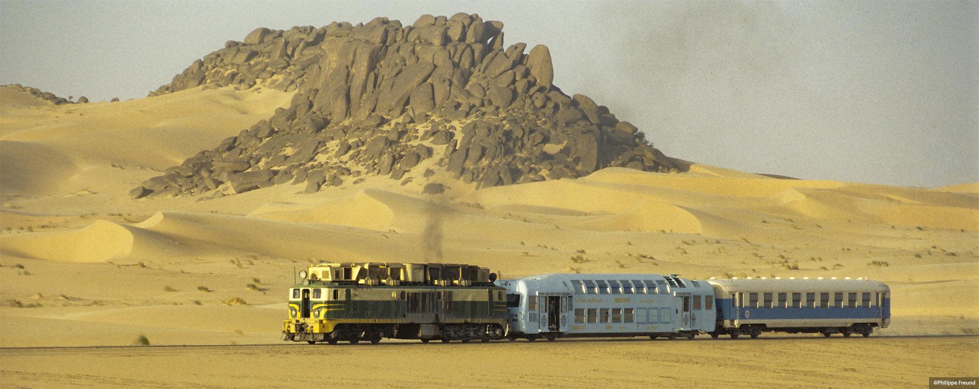 Slider Train du désert en Mauritanie