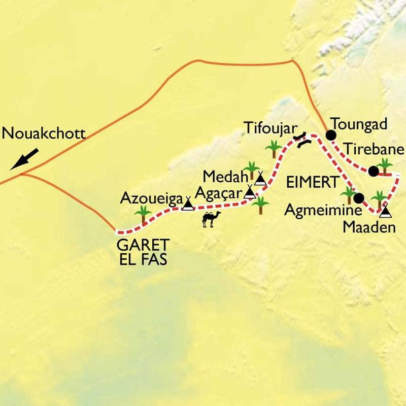 carte de Maaden en mauritanie