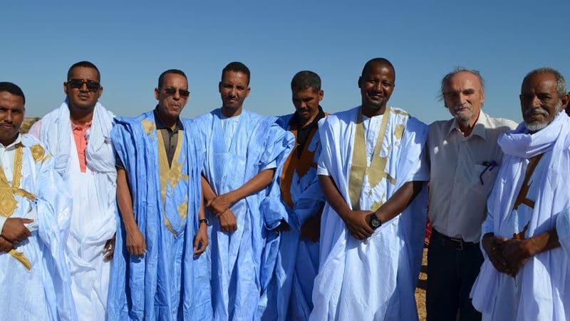 Notables de Maaden El Ervane - prochain village pilote de Pierre Rabhi avec Maurice Freund