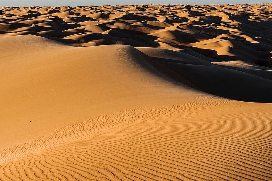 L'erg Amatlich dans le sud de l'Adrar en Mauritanie