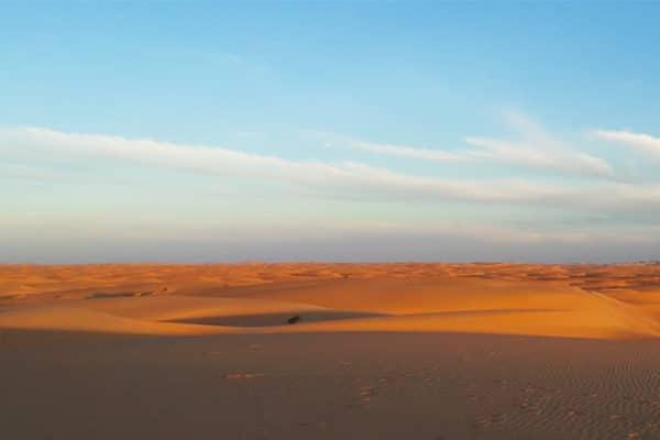 Coucher de soleilsur les dunes de Chinguetti - erg ouarane