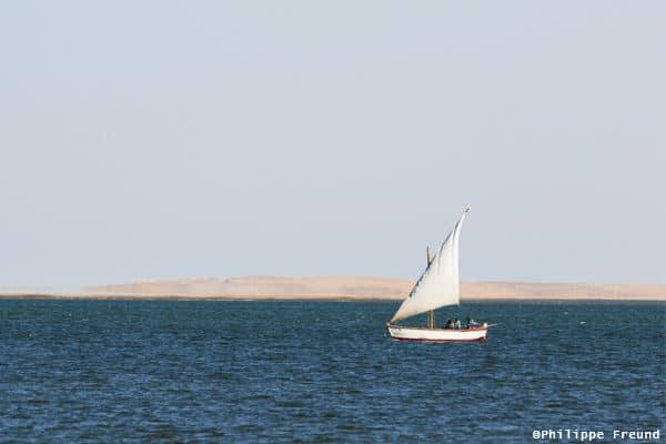 Lanche Imraguen sur les rives du Bac d'Arguin