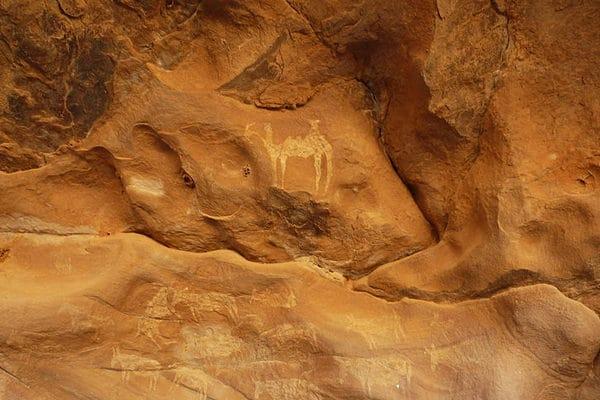 Site de peintures rupestres dans l'Adrar mauritanien