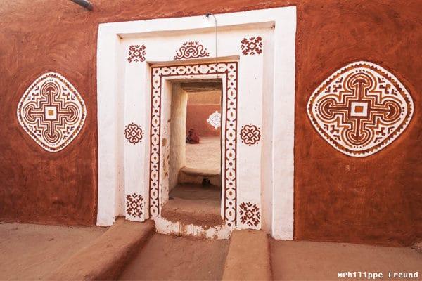 Porte décorée Oualata