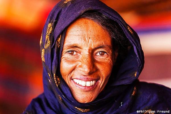 Portrait femme mauritanienne