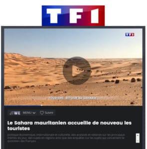 TF1 JT: Le Sahara mauritanien accueille de nouveau les touristes en Mauritanie