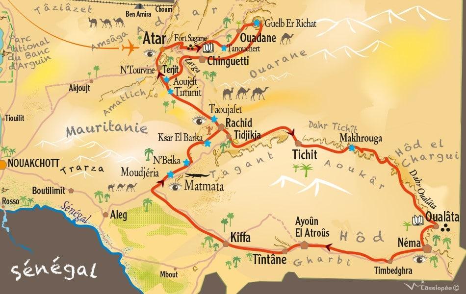 Carte circuit villes anciennes