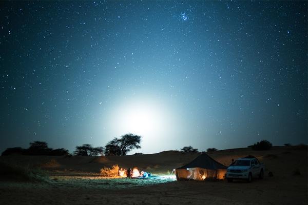 Bivouac sous les étoiles à Maaden