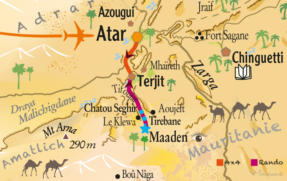 Carte rando de Maaden à Terjit avec Pierre R