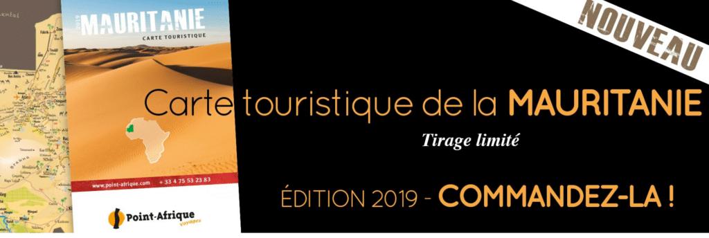 Carte touristique Mauritanie par Point-Afrique Voyages