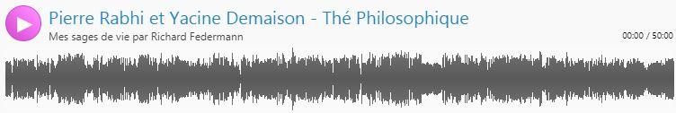 Emission radio : thé philosophique à Maaden entre pierre Rabhi, Yacine Demaison et Maurice Freund