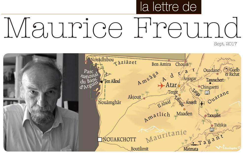Lettre de Maurice Freund septembre 2017