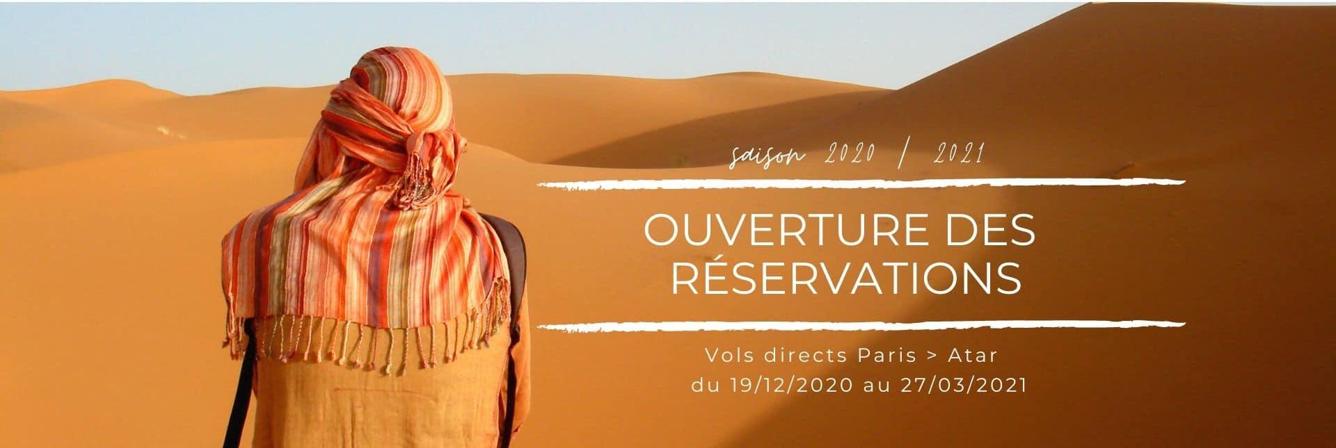 Ouverture reservation vols et circuits Mauritanie 2020/2021
