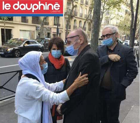Article Dauphiné libéré 14 oct 2020 Maurice FReund témoigne libération Sophie Petronin