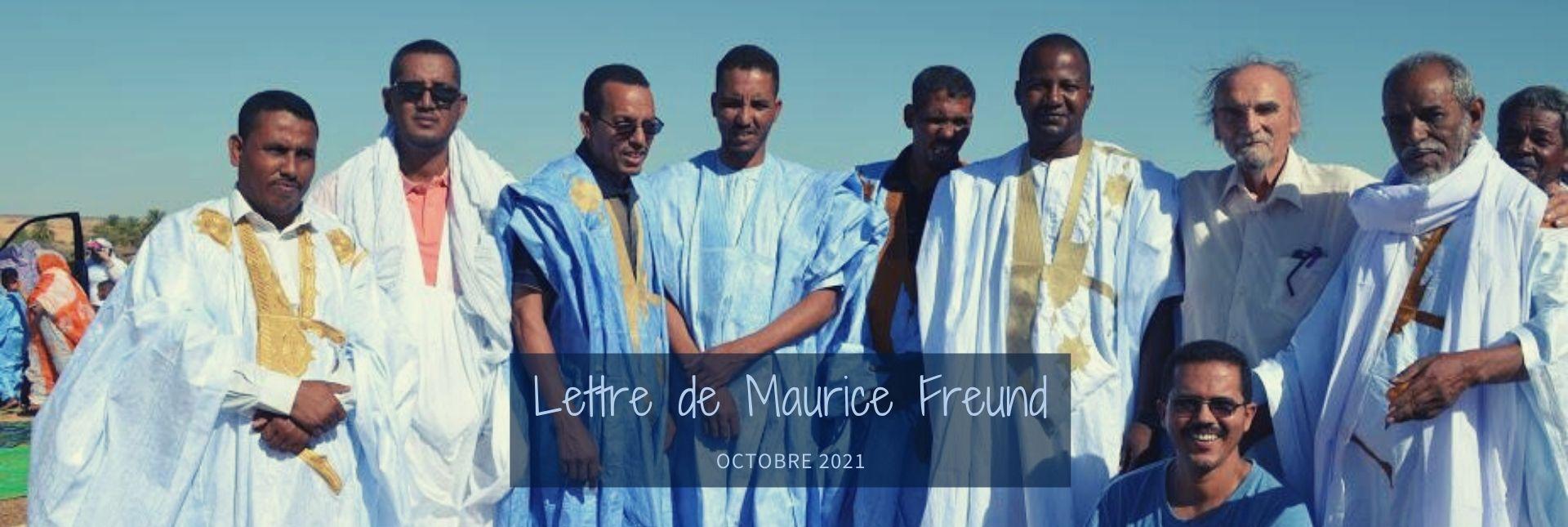 header Lettre de Maurice Freund octobre 2021